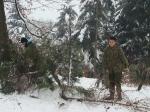 Zajęcia klasy wojskowej w zimie