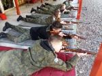 Klasa wojskowa na strzelnicy